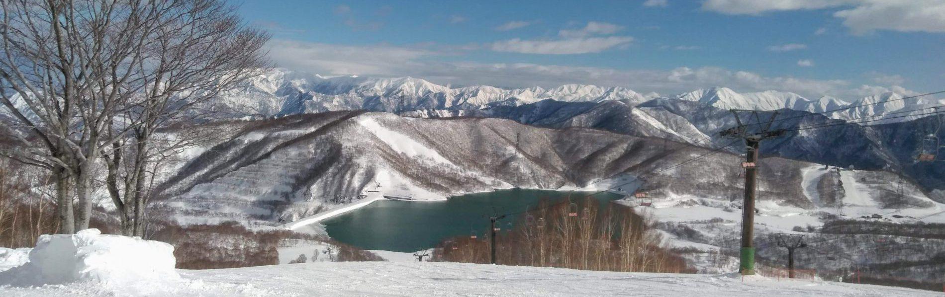 かぐらスキー場から谷川連峰